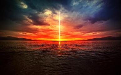 sunset-light-beam